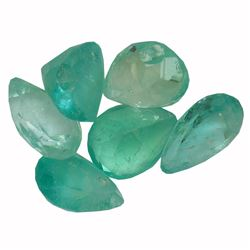 3.6 ctw Pear Mixed Emerald Parcel