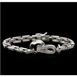 1.65 ctw Diamond Bracelet - 14KT White Gold