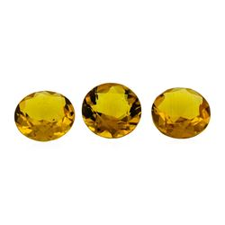 13.93 ctw.Natural Round Cut Citrine Quartz Parcel of Three