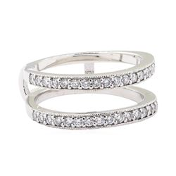 0.60 ctw Diamond Double Row Ring Guard - 14KT White Gold