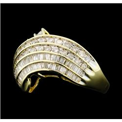 2.14 Diamond Ring - 10KT yellow Gold