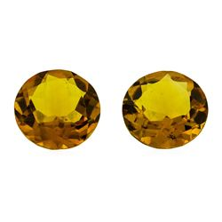 9.61 ctw.Natural Round Cut Citrine Quartz Parcel of Two