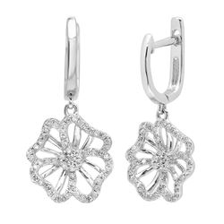 14k Gold 0.35CTW Diamond Earrings, (SI3-I1/H-I)