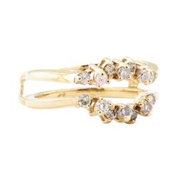 0.50 ctw Diamond Ring Guard - 14KT Yellow Gold