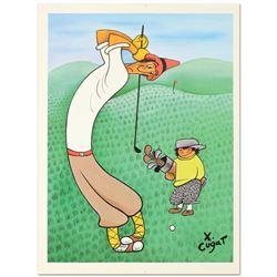Skinny Golfer by Xavier Cugat (1900-1990)