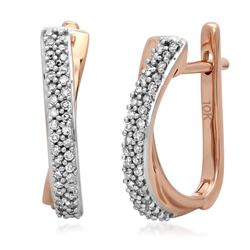 10k Gold 0.17CTW Diamond Earrings, (I1-I2/H-I)