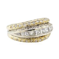 2.00 ctw Diamond Ring - 14KT Yellow and White Gold