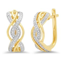 14k Gold 0.21CTW Diamond Earrings, (I1)