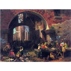 The Arc of Octavius, Roman Fish Market by Albert Bierstadt