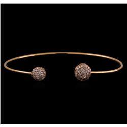 14KT Rose Gold 0.54 ctw Diamond Bangle Bracelet