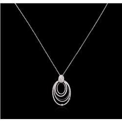 1.01 ctw Diamond Pendant With Chain - 14KT White Gold