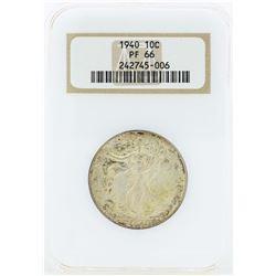 1940 Walking Liberty Proof Half Dollar Coin NGC PF66