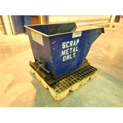 Metal Dump Bin Shop Equipment