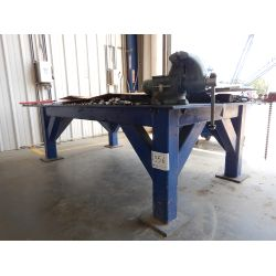 10' X 6' STEEL TABLE Shop Equipment