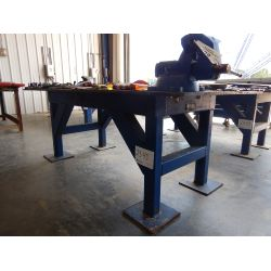 4' X 8' Steel Table Shop Equipment