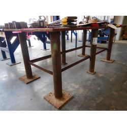 "4' X 8"" Steel Table Shop Equipment"