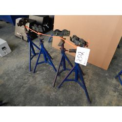 (4) Pipe Roller Stands Shop Equipment