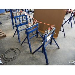 (3) Pipe Roller Stands Shop Equipment