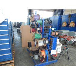 WIRE RACK W/MISC WIRE Shop Equipment