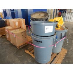 GARBAGE CANS/ FLAGGING/ HARD HATS Office Equipment / Furniture