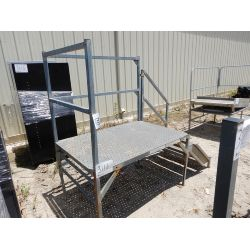METAL STAND W/ STAIRS Shop Equipment