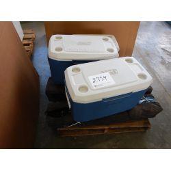 COLMAN  COOLERS/ POP-UP TENTS Shop Equipment