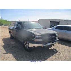 2003 - CHEVROLET SILVERADO/SALVAGE TITLE