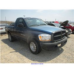 2006 - DODGE RAM/SALVAGE TITLE