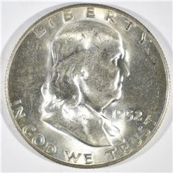 1952-S FRANKLIN HALF DOLLAR  CH BU