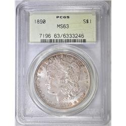 1890 MORGAN DOLLAR  PCGS MS-63