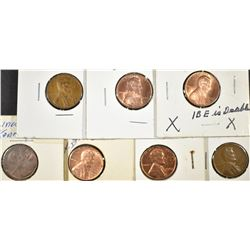 4-LINCOLN CENT ERROR & 3-KENNEDY/LINCOLN CENTS