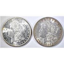 1881-S & 1886 MORGAN DOLLARS CH BU