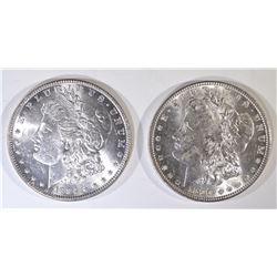 1884 & 1890 MORGAN DOLLARS BU
