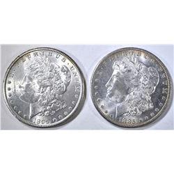 1885-O & 1899-O MORGAN DOLLARS CH BU