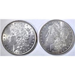 1896 & 1883-O MORGAN DOLLARS CH BU