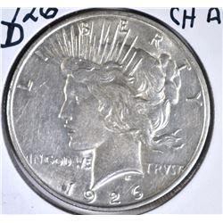1926-D PEACE DOLLAR, CH AU