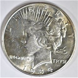 1934-D PEACE DOLLAR, BU