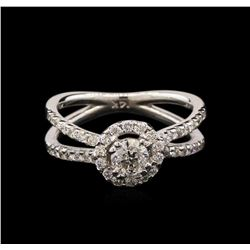 1.05 ctw Diamond Ring - 14KT White Gold
