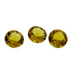 2.28 ctw.Natural Round Cut Citrine Quartz Parcel of Three