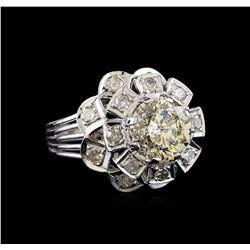 3.65 ctw Diamond Ring - 18KT White Gold