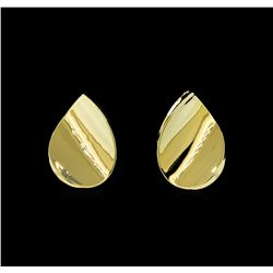 Concave Earrings - Gold Plated
