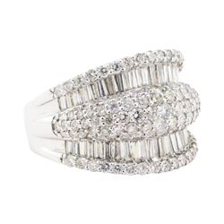 3.07 ctw Diamond Ring - 18KT White Gold