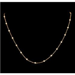 0.80 ctw Diamond Necklace - 18KT Rose Gold