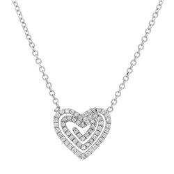 18k Gold 2.95CTW Diamond Necklace, (SI1-SI2/G-H)
