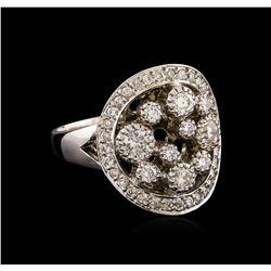14KT White Gold 0.81 ctw Diamond Ring