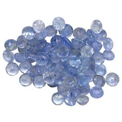9.78 ctw Round Mixed Tanzanite Parcel