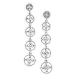 14k White Gold 0.50CTW Diamond Earrings, (SI3/G-H)
