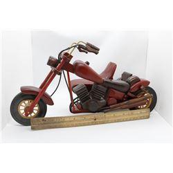Wooden motorcycle w/ side car