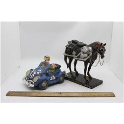 Horse and car ornament