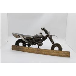 Scrap metal motorcycle